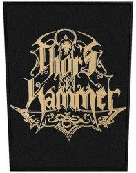 THOR'S HAMMER - Brown Logo нашивка на спину NS Metal