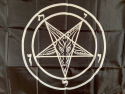 Baphomet Pentagram Флаг