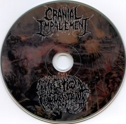 CRANIAL IMPALEMENT / NECROPTIC ENGORGEMENT - World Wide Terrorism CD Brutal Death Metal