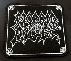 MORBID ANGEL - White Logo Нашивка Death Metal