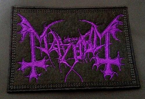 MAYHEM - Purple Logo Нашивка Black Metal
