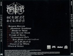 MARDUK - Serpent Sermon CD Black Metal