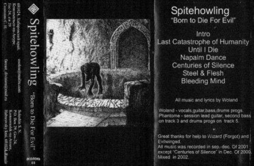 SPITEHOWLING - Born to die evil Tape Black Metal