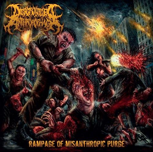 DISGRUNTLED ANTHROPOPHAGI - Rampage of Misanthropic Purge CD Brutal Death Metal
