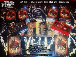 VELD - DAEMONIC: The Art of Dantalian (красная) Tape Death Metal