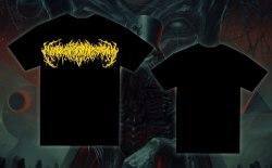 EXIMPERITUSERQETHHZEBIBSIPTUGAKKATHSULWELIARZAXULUM - Yellow Logo - S Майка Technical Brutal Death Metal