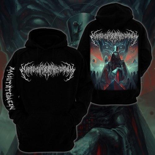 EXIMPERITUSERQETHHZEBIBSIPTUGAKKATHSULWELIARZAXULUM - Hoodie - M Балахон Technical Brutal Death Metal