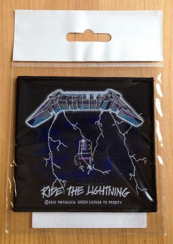 METALLICA - Ride the Lightning Нашивка Thrash Heavy Metal