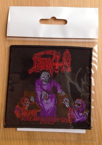 DEATH - Scream Bloody Gore Нашивка Death Metal