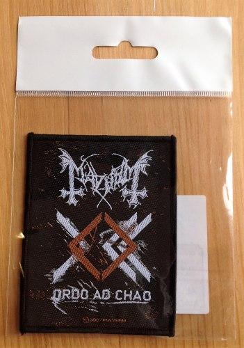 MAYHEM - Ordo ad Chao Нашивка Avantgarde Black Metal