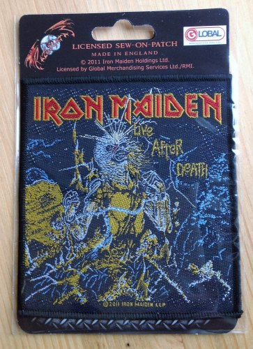 IRON MAIDEN - Live after Death Нашивка Heavy Metal