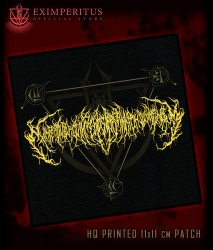 EXIMPERITUSERQETHHZEBIBSIPTUGAKKATHSULWELIARZAXULUM - Logo Нашивка Technical Brutal Death Metal