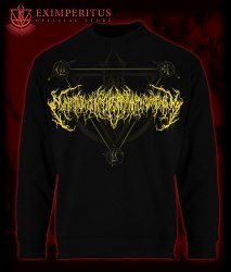 EXIMPERITUSERQETHHZEBIBSIPTUGAKKATHSULWELIARZAXULUM - Gold logo crewneck Кофта Brutal Technical Death Metal