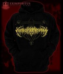EXIMPERITUSERQETHHZEBIBSIPTUGAKKATHSULWELIARZAXULUM - Gold logo hoodie Балахон Technical Brutal Death Metal