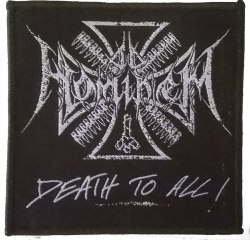 AD HOMINEM - Death to All Нашивка Black Metal