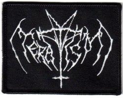 TERATISM - Logo Нашивка Black Metal
