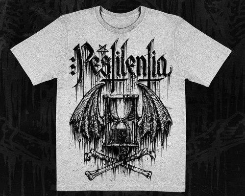PESTILENTIA - Logo Light Grey - L Майка Black Metal