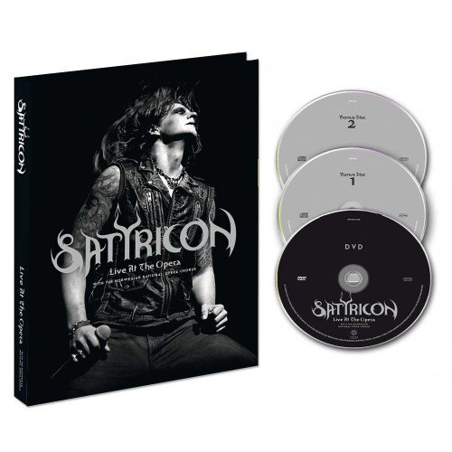 SATYRICON - Live at the Opera A5 Digi-2CD+DVD Blackened Metal