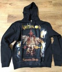 SATYRICON - Nemesis Divina - L Hoody Zipper Black Metal