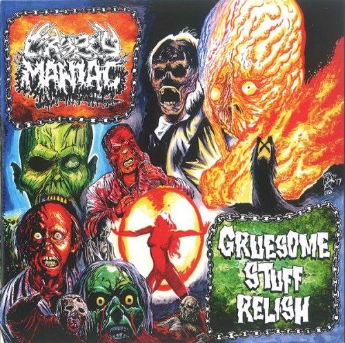 """CROPSY MANIAC / GRUESOME STUFF RELISH - Cropsy Maniac / Gruesome Stuff Relish 7""""EP + MCD Grindcore Death Metal"""