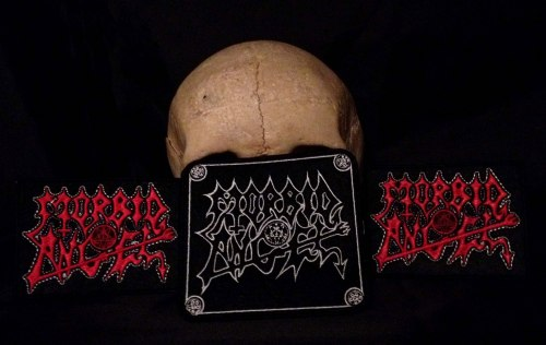 MORBID ANGEL - Logo (white) Нашивка Death Metal