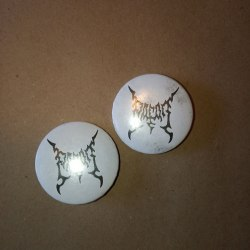 PAGAN - White Logo Pin значок Black Metal