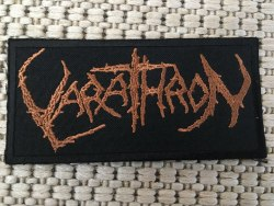 VARATHRON - Logo Нашивка Black Metal