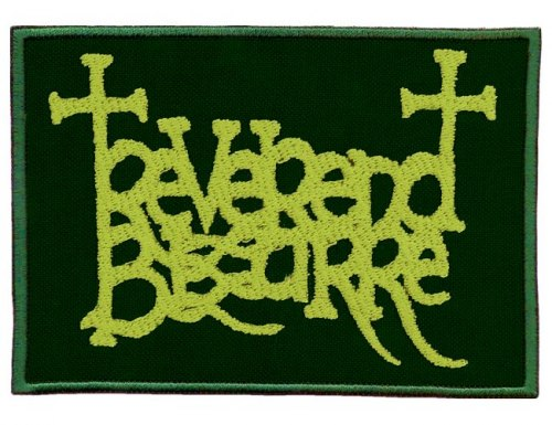REVEREND BIZARRE - Green Logo Нашивка Doom Metal