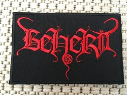 BEHERIT - Red Logo Нашивка Black Metal