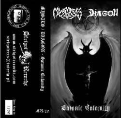 MYSTES / DIAGON - Satanic Calamity Tape Black Metal