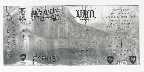 WAR MASTER - Heritage Tape Black Metal