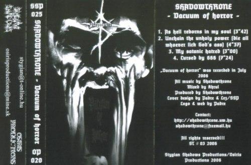 SHADOWTHRONE - Vacuum of Horror Tape Black Metal