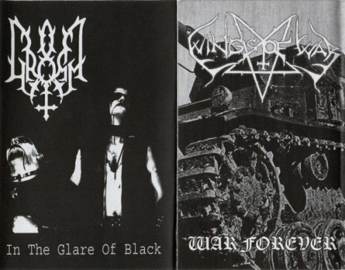 GROMM / WINGS OF WAR - In The Glare Of Black / War Forever Tape Black Metal