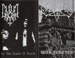 GROMM / WINGS OF WAR - In The Glare Of Black / War Forever Tape Black Metal
