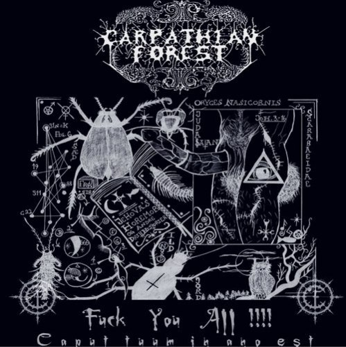 CARPATHIAN FOREST - Fuck You All !!!! - Caput Tuum In Ano Est CD Black Metal