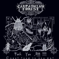 CARPATHIAN FOREST - Fuck You All !!!! - Caput Tuum In Ano Est CD Black Metal