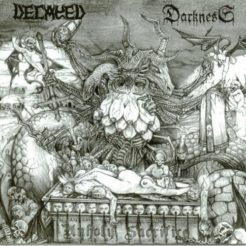 DECAYED / DARKNESS - United In Blasphemy CD Black Metal