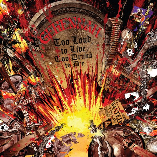 GEHENNAH - Too Loud To Live, Too Drunk To Die CD Heavy Speed Metal