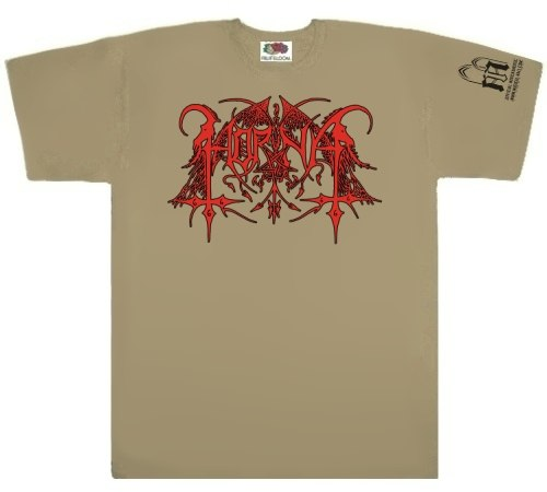 HORNA - Red Logo - XL Майка Black Metal