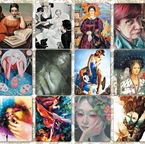 Карты «Женщина глазами художника» Ирина Федорова