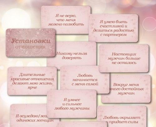 Карты «Установки: отношения» Ирина Федорова