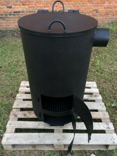 """Большая печь - бочка для сжигания мусора """"Смуглянка"""" 290"""