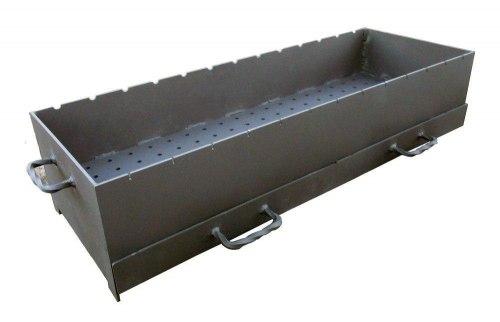 Жаровня 5 мм с ящиками-зольниками большая ( Серия ММ )