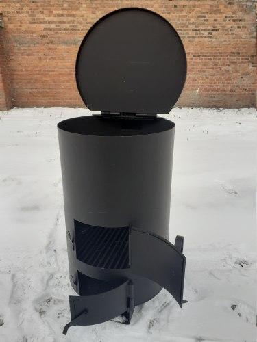 """Печь-бочка для сжигания мусора """"Золушка""""-2 (сталь 4 мм)"""