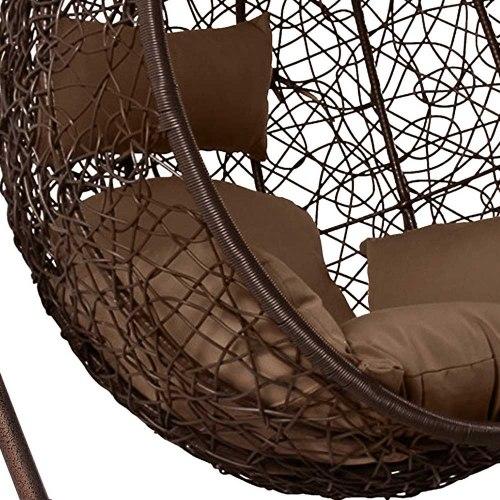 Подвесное кресло из искусственного ротанга AFM-168A-L Brown