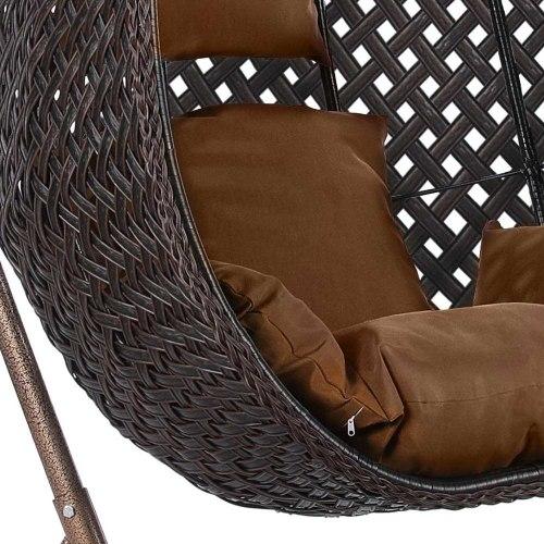 Подвесное кресло из искусственного ротанга AFM-250B-XL Brown