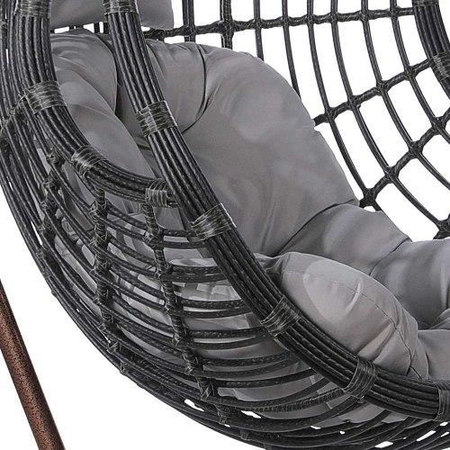 Подвесное кресло из искусственного ротанга AFM-300C Dark Grey