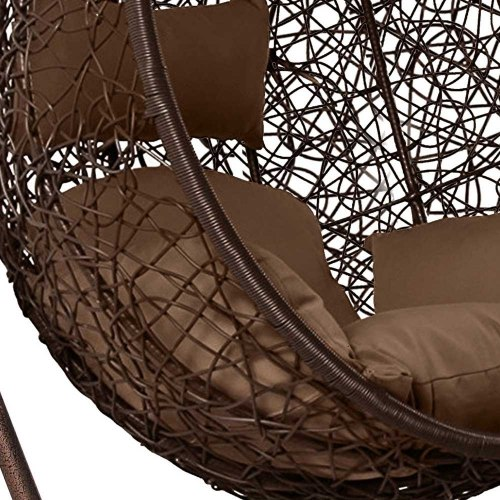 Подвесное кресло из искусственного ротанга AFM-168A-XL Brown