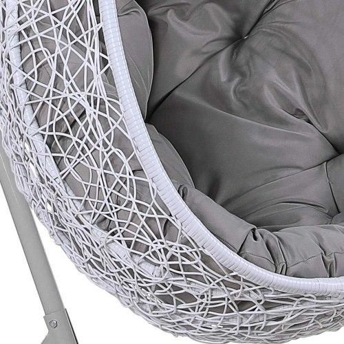 Подвесное кресло из искусственного ротанга AFM-219C White