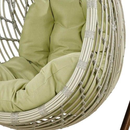Подвесное кресло из искусственного ротанга N886-W71 White